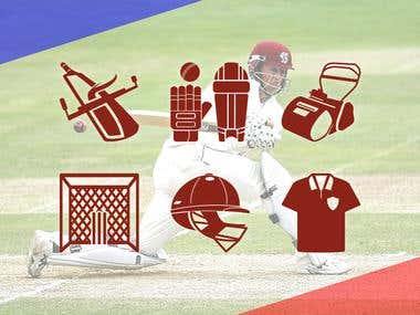 Solid icon for Cricket Website