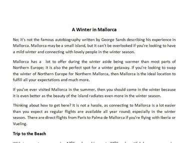 A Winter in Mallorca