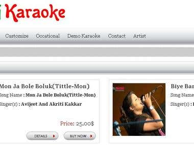 Online Shopping Cart-Karaoke shop