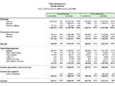 Financial Statements of Company