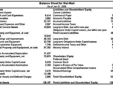 Balance Sheet (Accounting)