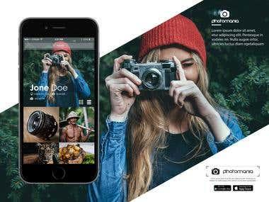 Photomania App UI