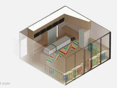 3D Shop Interior