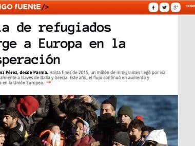 Artículo sobre la ola de refugiados en Europa
