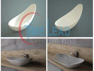3d Modeling - Basan and Bathtub