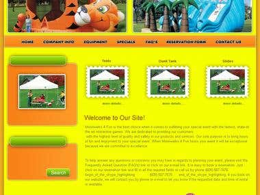 Custom CMS Website - Moonwalk4fun
