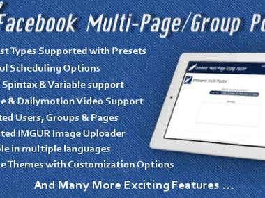 Facebook Multi Page/Group Poster
