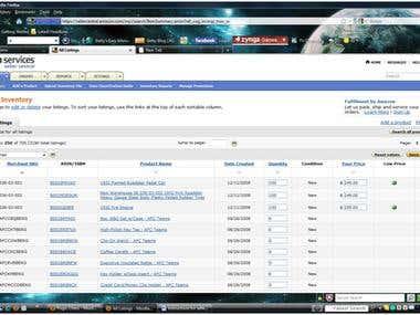 Amazon Product Data  Entry