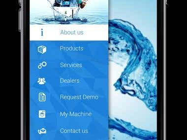 Mobile Application for Veon Water Purifiers