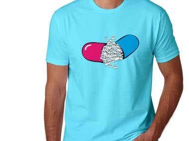 Men Tshirt - Pills Inside