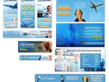 Let's Fly Cheaper Web Banners