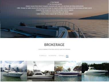 A Yachts website