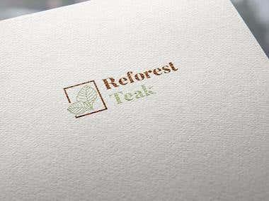 """Logotype for """"Reforest Teak"""""""