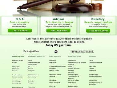 Lawyer Advice Website