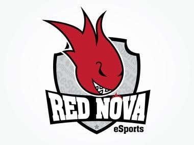 Logo design for Red Nova Esport