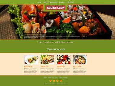 Дизайн сайта ресторана вегетарианской пищи