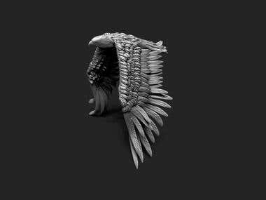 High detailed Eagle for 3d printing
