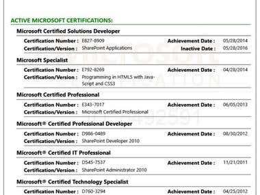 Microsoft Transcripts