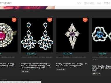 Mother City jewels (Wordpress Woocommerce Store)