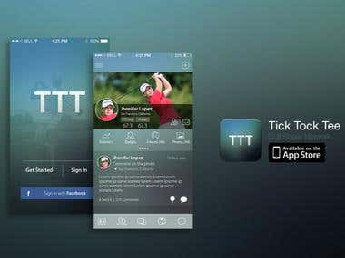 iOS Social Application For Golfers