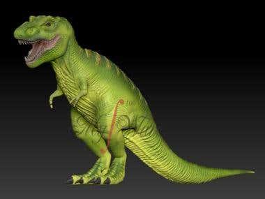 Dinosaur model for 3D Printing