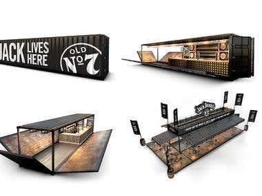 Designs Bar Container