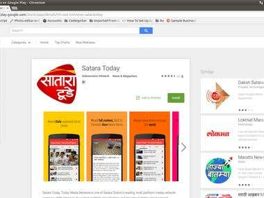 Satara Today Android Application Development