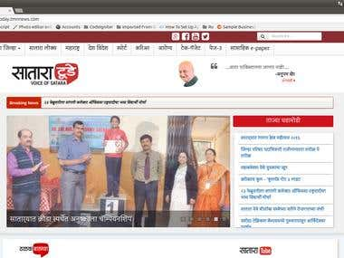 Satara Today Website Development