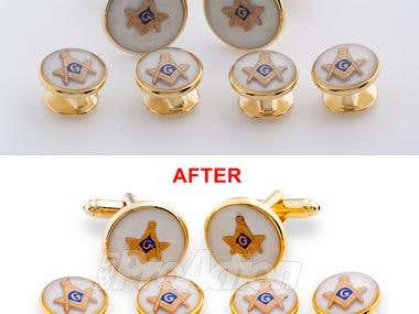 Retouching jewelry photos
