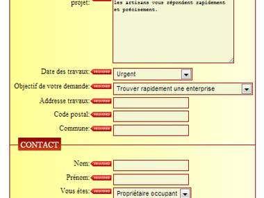 DevisPro form