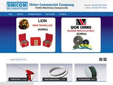 Dynamic Website of Textile Products Company