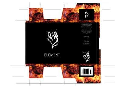 ELEMENT branding and package design. Version one CMYK  1 pms