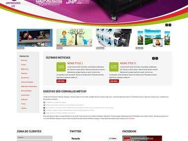 Website design proporsal for Grafimundo S.A.