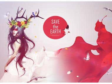 "Graphic poster ""Save the Earth"""