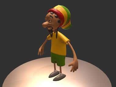 Hippy 3d model