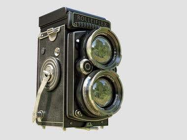 3d model of Rolleiflex Camera