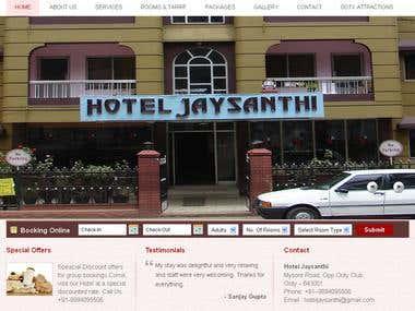 Hotel Jaysanthi - Reservation system