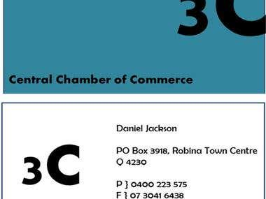 Visiting Card Design for Central Chamber of Commerce