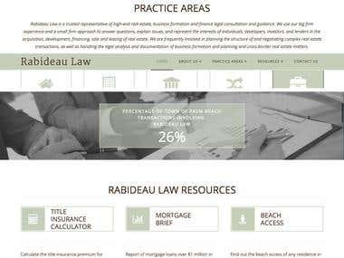 Rabideau Law  - wordpress