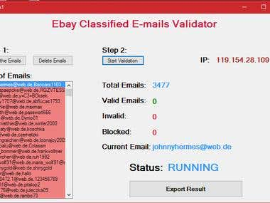 Ebay Classifieds Email/Password Verfication (Fast)