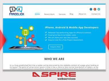 Faroclick Website Design