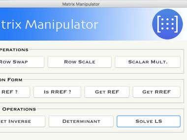 A Matrix Manipulator