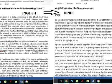 Eng-Hindi Translation