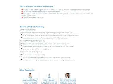 Home Page Development