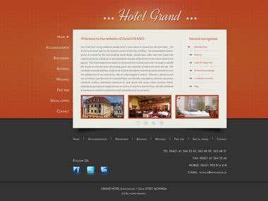 Hotel Grand web design
