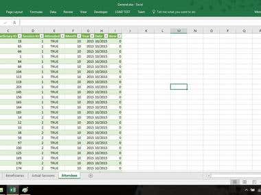 Excel (Database Query Analyze)