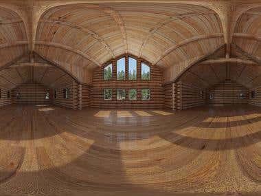 Log cabin equirectangular