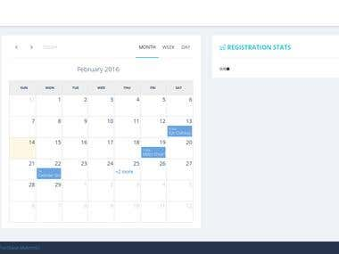 Event Management system on PHP