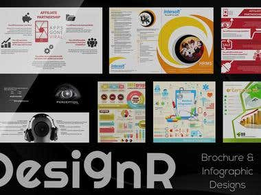 Brochure and infographic designs
