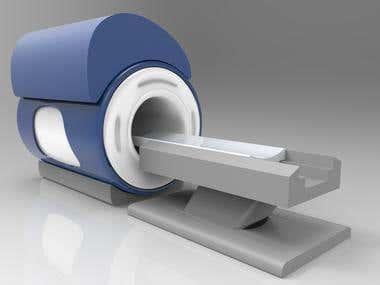 MRI machine 3D model